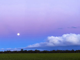 Moonrise, Western Victoria, Australia by Excitations Photo Adventures.