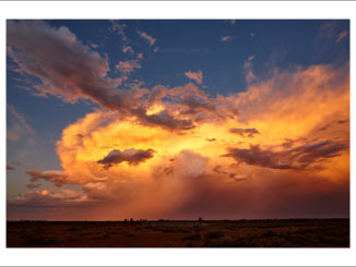 Large thunderhead photographed over outback NSW by Ian Mckenzie of Excitations Photo Adventures and tours, Australia.