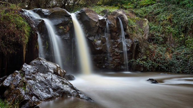 long exposure, blurred water Narracan Falls. Stock photo of Gippsland by Excitations.com.au for Places I'd rather be blog post.